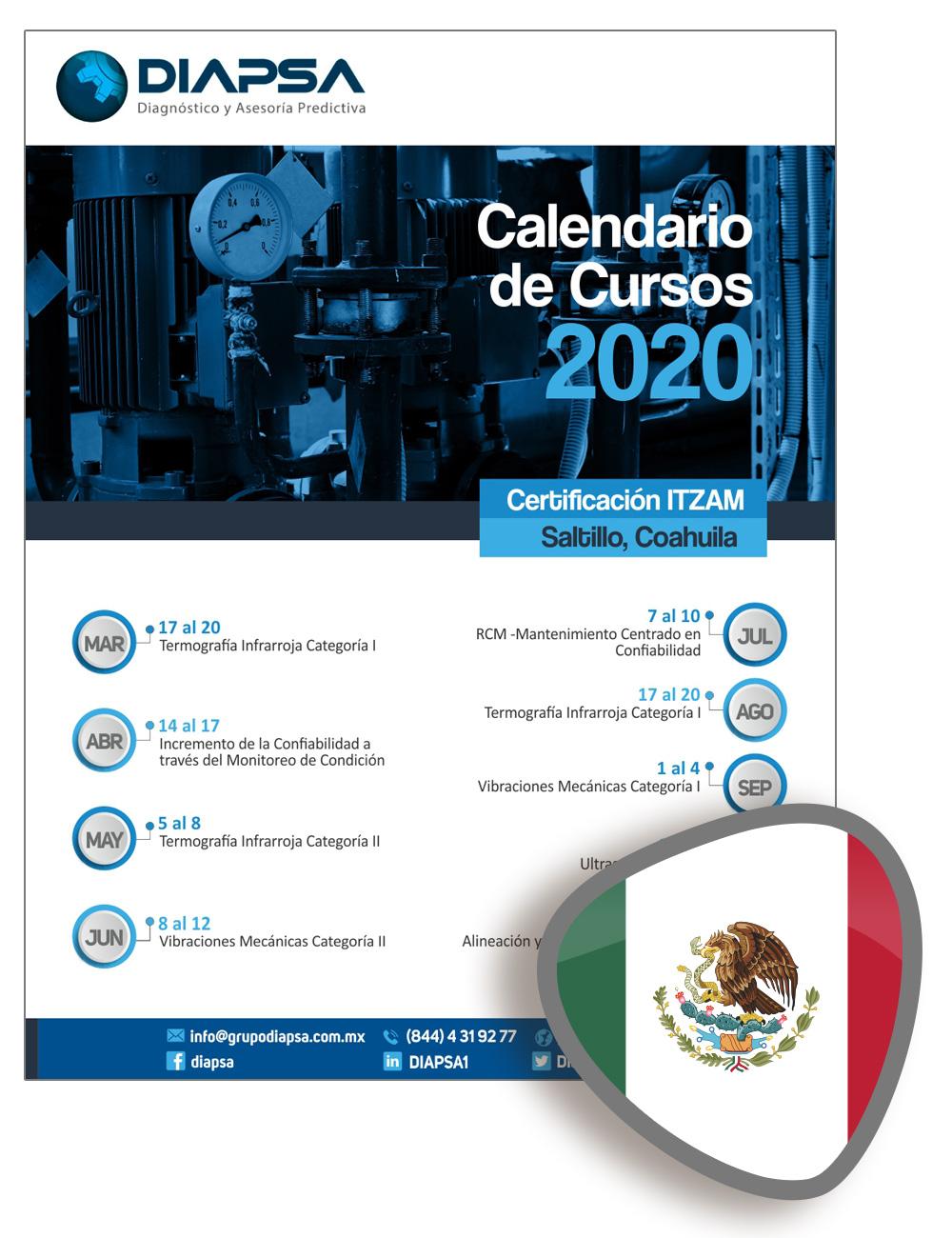 Calendario México Diapsa 2020