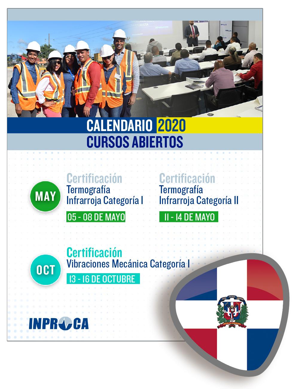 Inproca - República Dominicana - Calendario de Cursos 2020